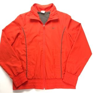 Nike Size Large Red Full Zip Lined Track Jacket